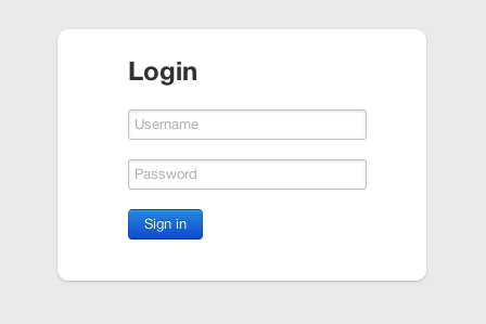 Twitter Bootstrap Login Page Countableset